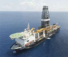 The sixth-generation Ocean Blackhawk drillship. Image: Diamond Offshore